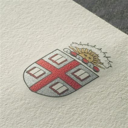 Engraved letterhead shield.