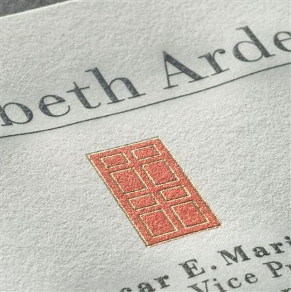 Engraved letterhead with metallic ink