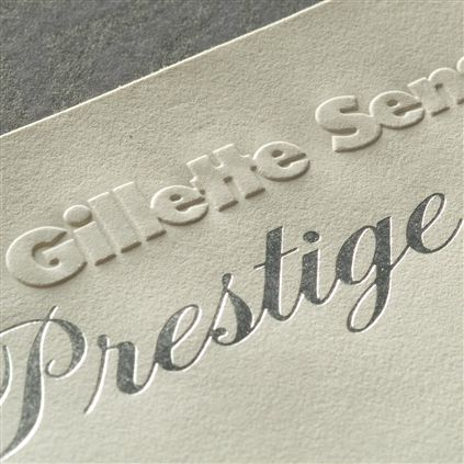Embossed and engraved letterhead