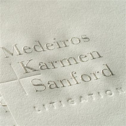 Metallic engraved letterhead