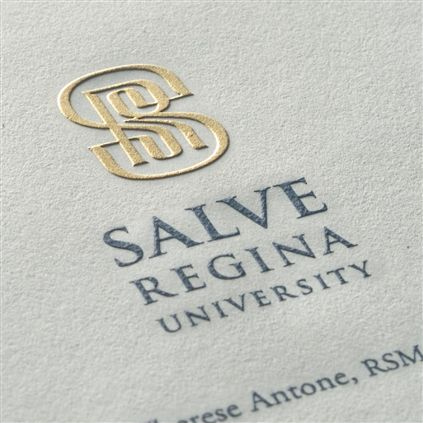 Engraved and foil stamped letterhead